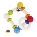 Hochet carré flexible , perles bois Heimess