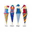 Marotte, marionnette en tissu et bois goki