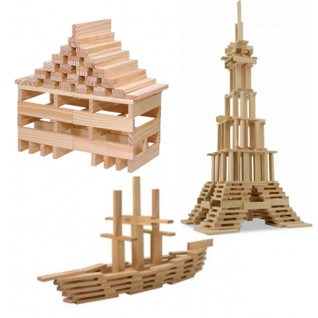 Planchettes, jeu de construction kapla en bois de goki