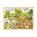 Puzzle bois : la mare et la nature, 96 pieces goki