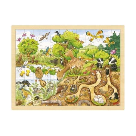Puzzle bois : la mare, 96 pieces