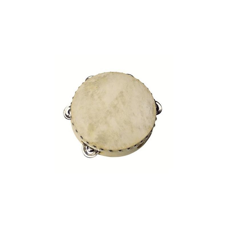 Tambourin 5 clochettes, instrument en bois goki