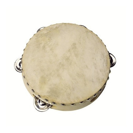 Tambourin 5 clochettes, instrument en bois
