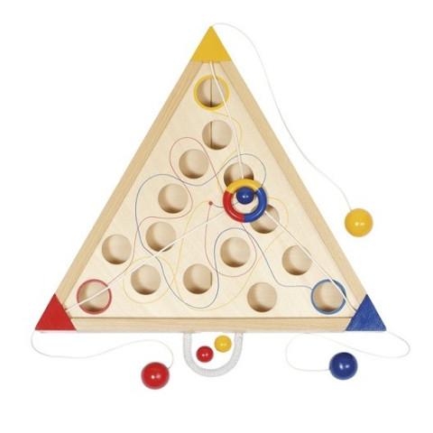 Tricours, jeu cooperatif en bois goki
