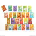Cartes alphabet, les lettres grimms