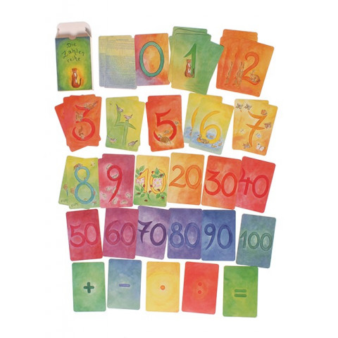 Cartes des chiffres et calcul mathematique Grimms