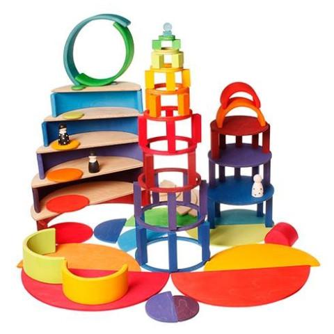 disques et anneaux concentriques en bois, Grimm's