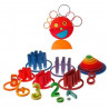 Cercles et anneaux, jouet en bois, Grimm's