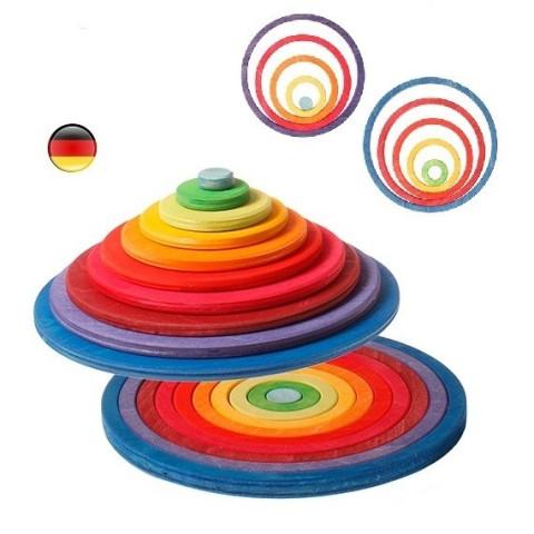 Cercles et anneaux concentriques en bois, Grimm's