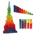 Escalier, 100 blocs à compter et calcul, jouet en bois Grimm's