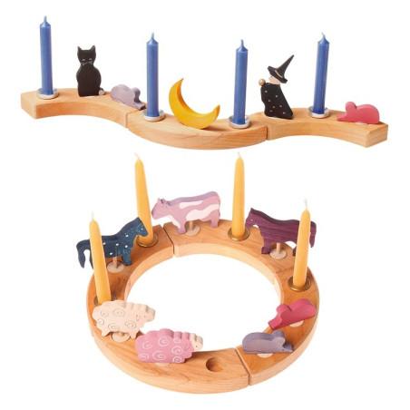 Figurine décorative animal en bois, Grimm's
