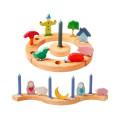 Figurine décorative anniversaire, table saison en bois, Grimm's