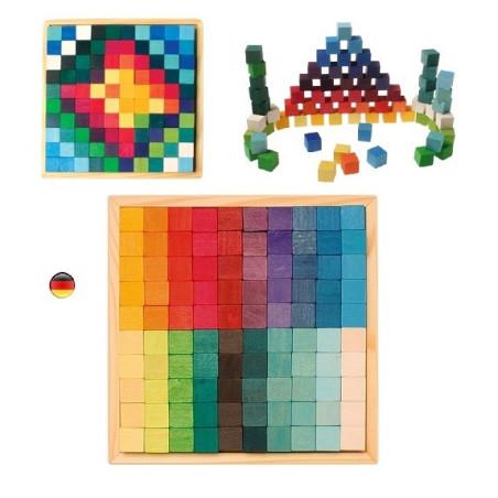 Cubes Mosaïque en bois, Grimm's