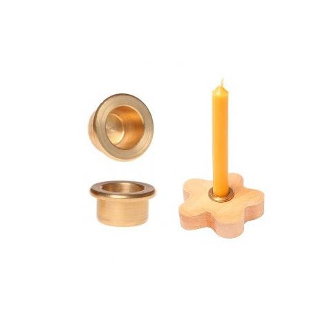 Support porte bougie en laiton , pour couronne d'anniversaire et table de saison waldorf Grimm's