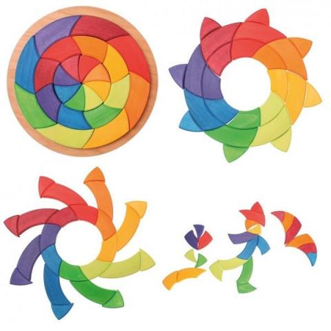 Puzzle cercle de Goethe, mandala des couleurs géant 3D, Grimm's