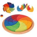 Puzzle cercle de Goethe, mandala des couleurs géant 3D en bois, Grimm's