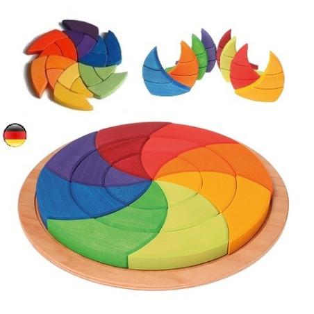 Puzzle cercle de Goethe géant 3D, Grimm's
