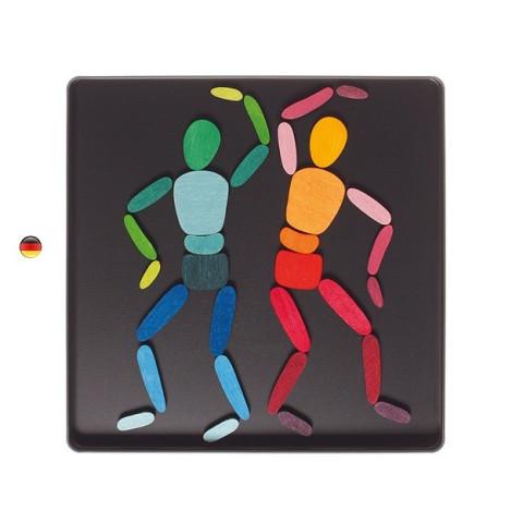 Puzzle magnétique, Jeu d'expression corporelle En mouvement, Grimm's