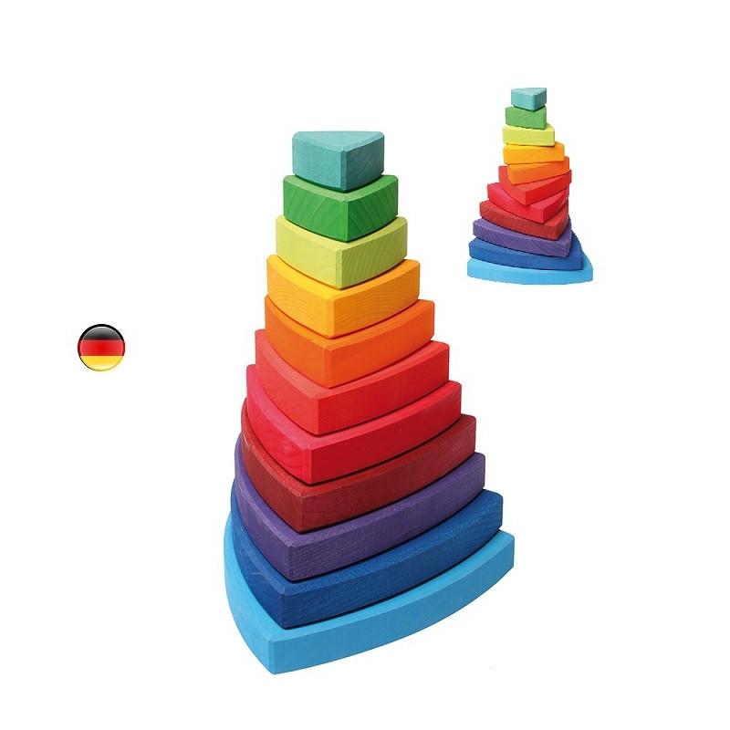 Tour triangle à empiler, jouet en bois  Grimm's