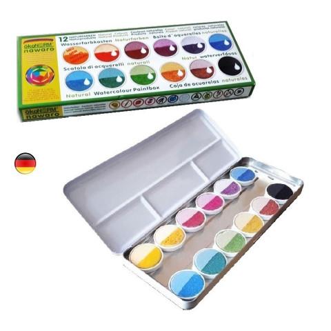 Peinture aquarelle végétale naturelle,  ecologique pour enfant , en boite Okonorm