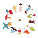 Figurines décoratives du calendrier annuel, en bois Grimm's