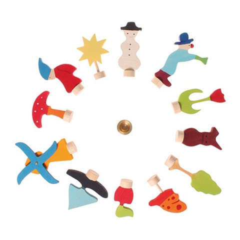 Figurines 4 saisons calendrier, Grimm's