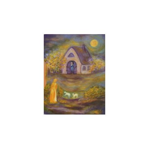 Dame Holle, livre enfant cartonné illustré steiner waldorf Iona