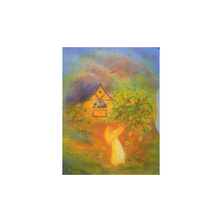 Dame Holle, livre enfant cartonné, conte de grimm illustré steiner waldorf Iona