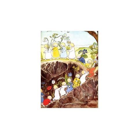 Grand mère terre et ses enfants, livre illustré steiner waldorf, de iona