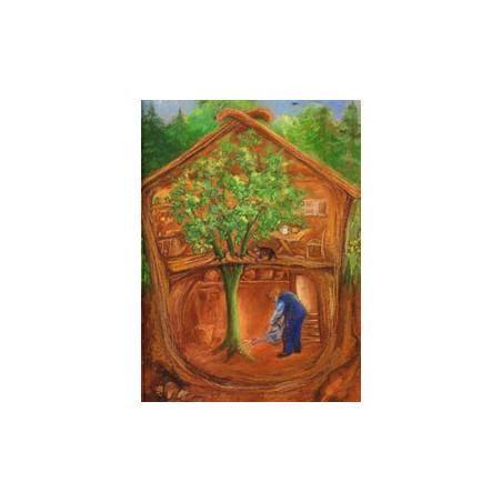 L'arbre qui poussait à travers le toit, livre illustré waldorf steiner iona
