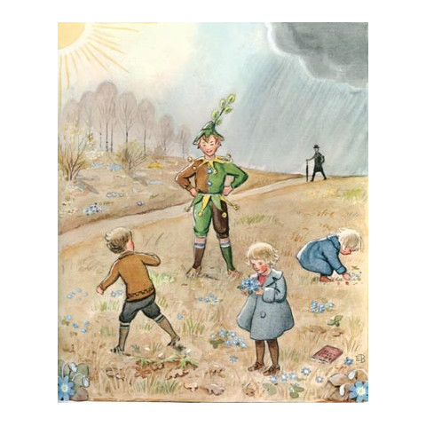 La ronde de l'année, elsa beskow, livre enfant  perle de rosée