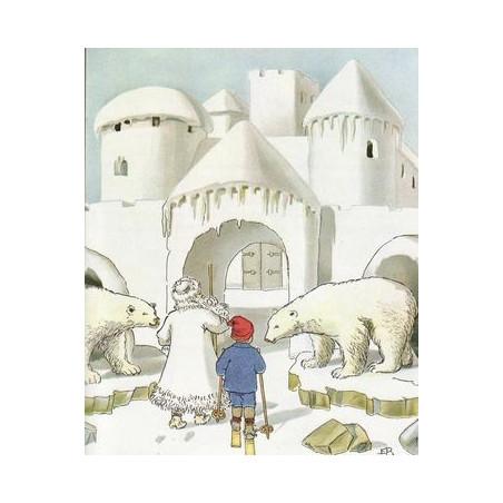 Olaf au pays du roi hiver, livre illustré Elsa Beskow, edition perle de rosée
