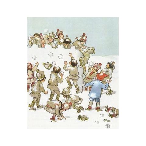 Olaf au pays du roi hiver, livre illustré Elsa Beskow, steiner waldorf edition perle de rosée