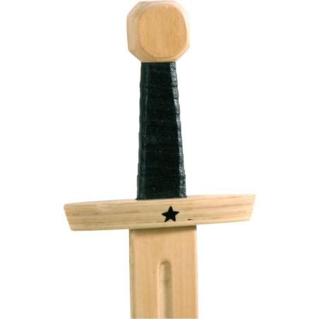 Epée de chevalier étoilé, jouet solide waldorf steiner en bois legler