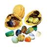 Noix surprise, garnie de pierres fines polies, cadeau pour fête d'enfant ou calendier d'avent, de legler