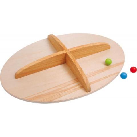 Planche d'equilibre, balance de motricité, jouet en bois legler