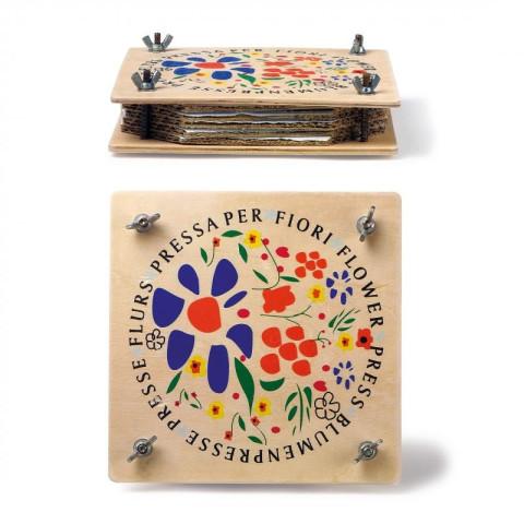 Presse Fleurs ou feuilles en bois, jouet waldorf steiner et montessori de legler