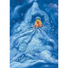 Carte postale dame holle , de marjan van zeyl, pour enfants steiner waldorf