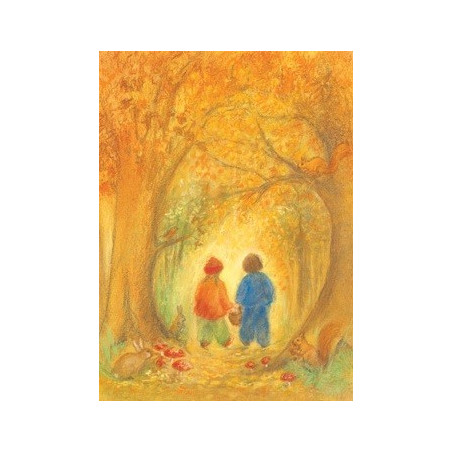 Carte Forêt d'automne