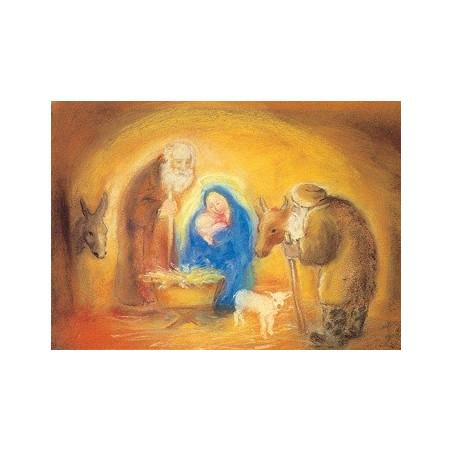 Carte de Noël : Nativité