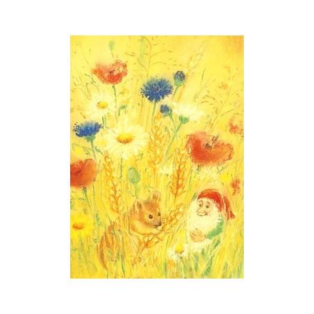 Carte Souris et lutin dans les blé d'été