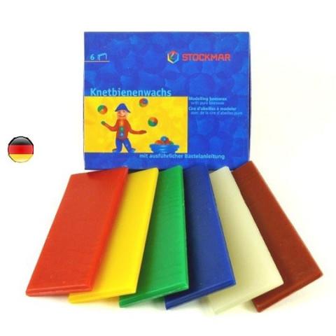 Cire à modeler, pate à modeler 6 couleurs de Stockmar