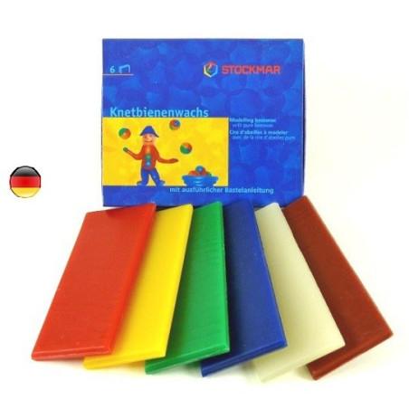 Cire à modeler, 6 couleurs de Stockmar