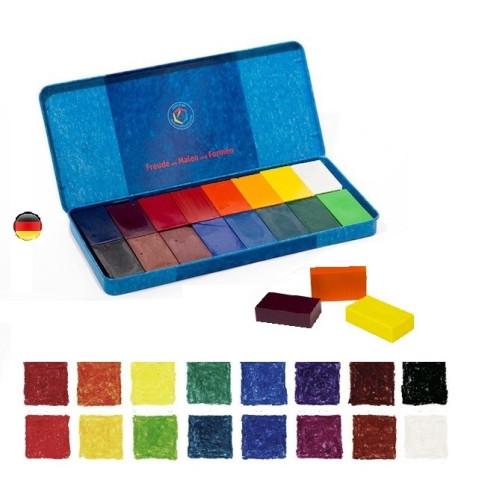 Boite de 16 blocs, crayons de cire d'abeille,pour dessin et coloriage waldorf steiner Stockmar