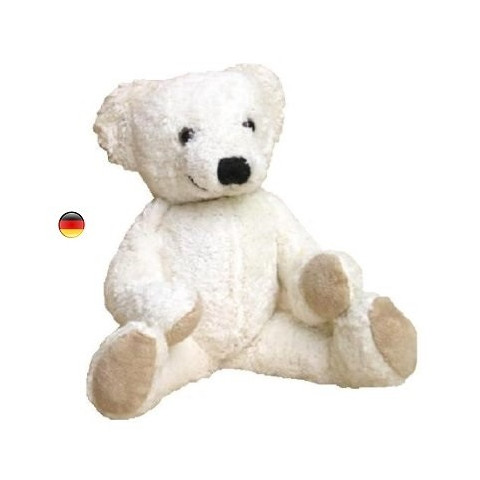Peluche musicale ours blanc, coton bio Kallisto