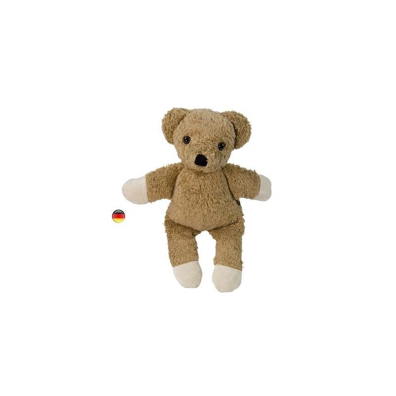 Peluche doudou, ours musical brun en coton bio Kallisto