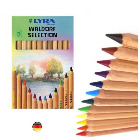 Crayons de couleur waldorf, en bois Lyra