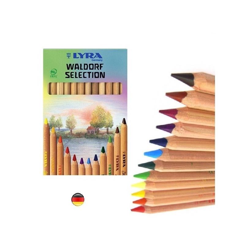 Crayons de couleur en bois superferby, waldirf steiner de Lyra