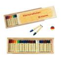 Crayons de cire d'abeille, boite de 24 craies, Stockmar