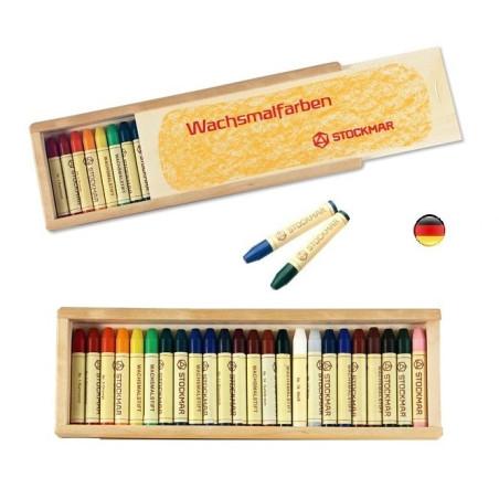 Crayons de cire, boite de 24, Stockmar